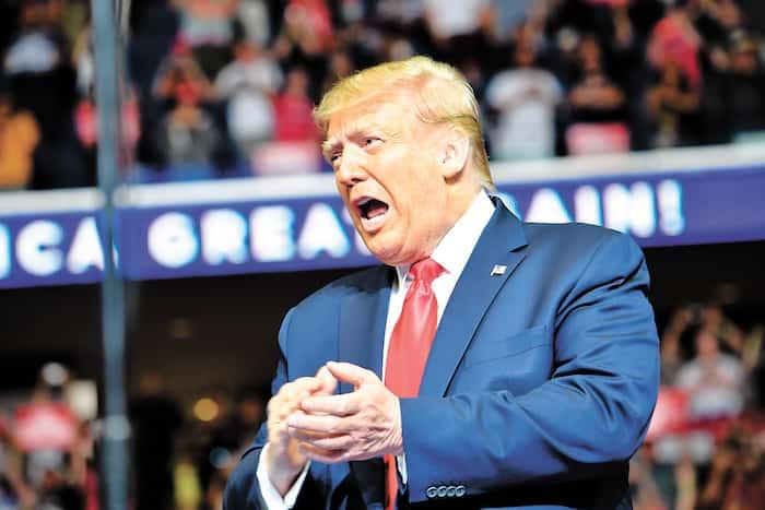 Le président américain Donald Trump lors d'un rassemblement de campagne samedi à Tulsa, en Oklahoma.