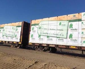 Les prix de vente moyens du bois ont crû de 44 % chez Produits forestiers Résolu au cours des trois derniers mois.