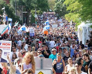 GEN-Manifestation anti-passport à Montréal