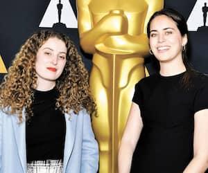 La productrice Maria Gracia Turgeon et la réalisatrice Meryam Joobeur lors d'un événement pré-Oscars, mercredi soir.