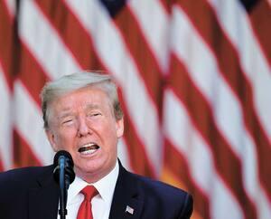 Le président américain a pris la parole jeudi dernier à la Maison-Blanche en cette Journée nationale de prière. Donald Trump y avait convié des leaders religieux en pleine pandémie.