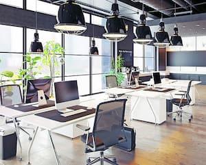 Le Eodeair Ionic à l'œuvre dans une salle de réunion.