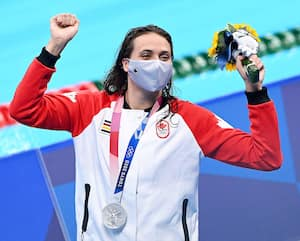 L'Ontarienne Kylie Masse a remporté une médaille d'argent au 200m dos, vendredi, à Tokyo.