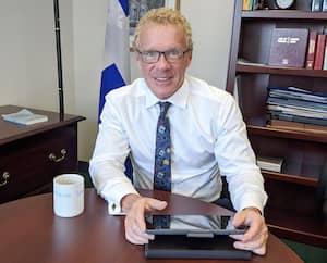 Le ministre du Travail, Jean Boulet
