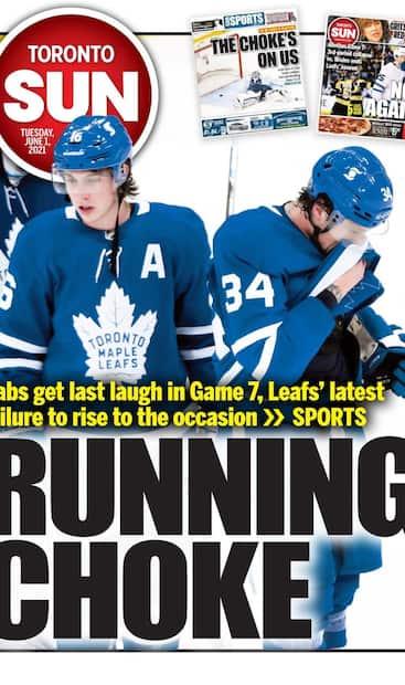 Image principale de l'article Médias torontois: les Leafs se font ramasser