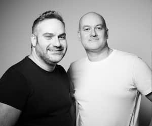 Eric et Jacob Wazana, propriétaires de Yoga Jeans
