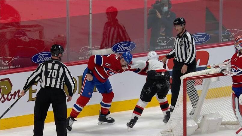 À VOIR : Tkachuk jette les gants contre Weber