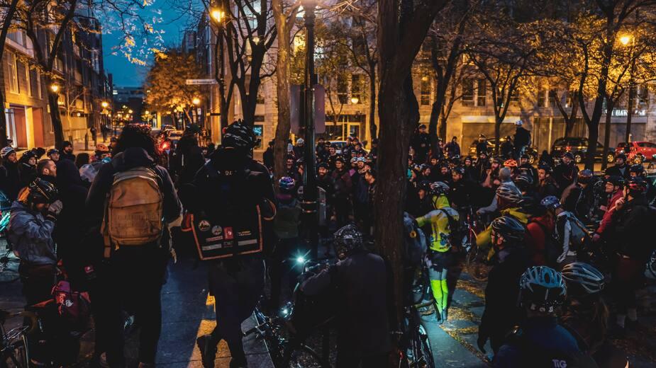 La plupart des coureurs sont de Montréal, mais d'autres sont venus d'aussi loin que Québec ou même Toronto.