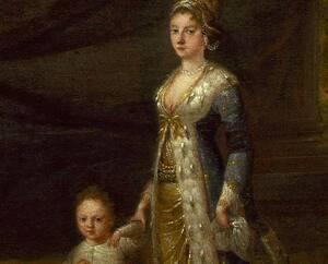Mary Wortley Montagu avec son garçon, Edward