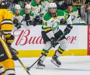 Le défenseur Logan Mailloux, choici par le Canadien en première ronde du repêchage de la LNH, appartient au Knights de London dans la OHL.