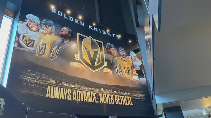 Un message des Golden Knights?