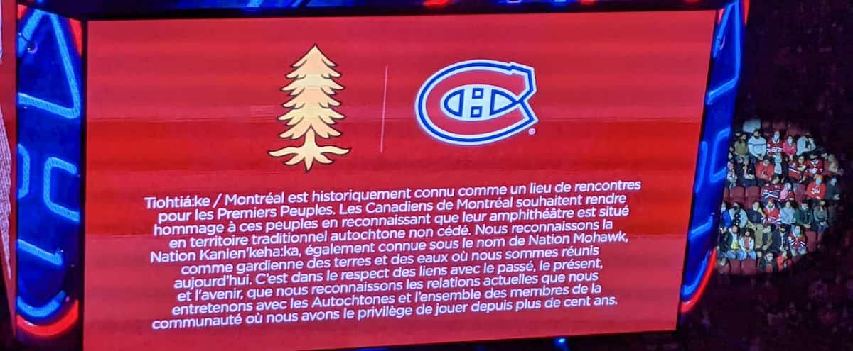 Le Canadien change finalement son message