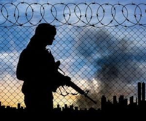 Bloc terroristes terrorisme soldat