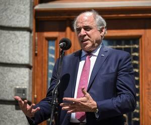 Pierre Fitzgibbon s'est exprimé lors d'un point de presse, mercredi, à Québec, quelques instants avant le Conseil des ministres.