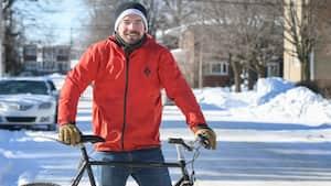 Image principale de l'article Sur son vélo 12 mois par année, loin de Montréal
