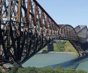 Pont de Québec, jeudi le 17 août 2017, à Quebec.