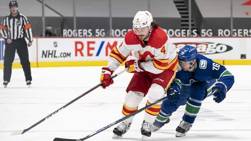 Le match des Flames et des Canucks reporté