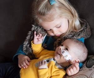 Ophelia et son frère Owen