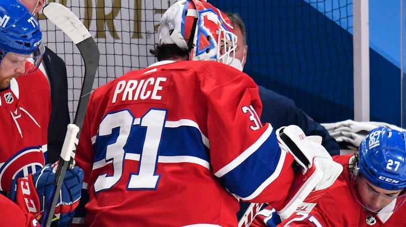 Carey Price souffre d'une commotion cérébrale