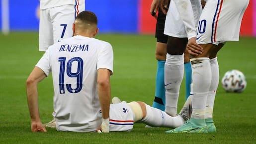 Euro: Benzema se blesse à une semaine du 1er match