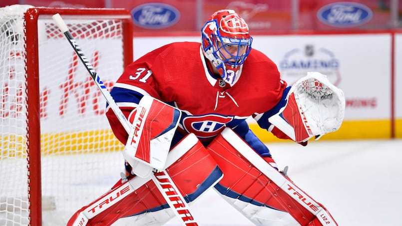 Carey Price tombe au combat