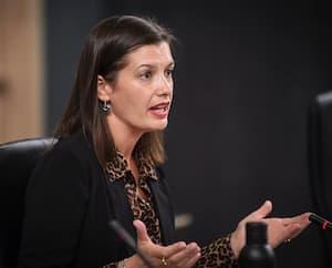 La vice-première ministre du Québec, Geneviève Guilbault