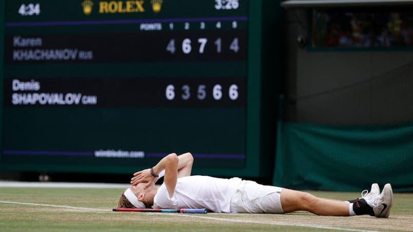Wimbledon: Shapovalov dans le carré d'as, Federer éliminé