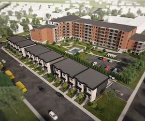 Le projet immobilier de Maria-Goretti comprend la construction de 15 maisons de ville et de 80 appartements locatifs à Charlesbourg.