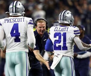 L'entraîneur-chef Jason Garrett et ses joueurs étoiles Dak Prescott et Ezekiel Elliott sauront-ils gérer la pression en cette fin de saison cruciale pour les Cowboys de Dallas?