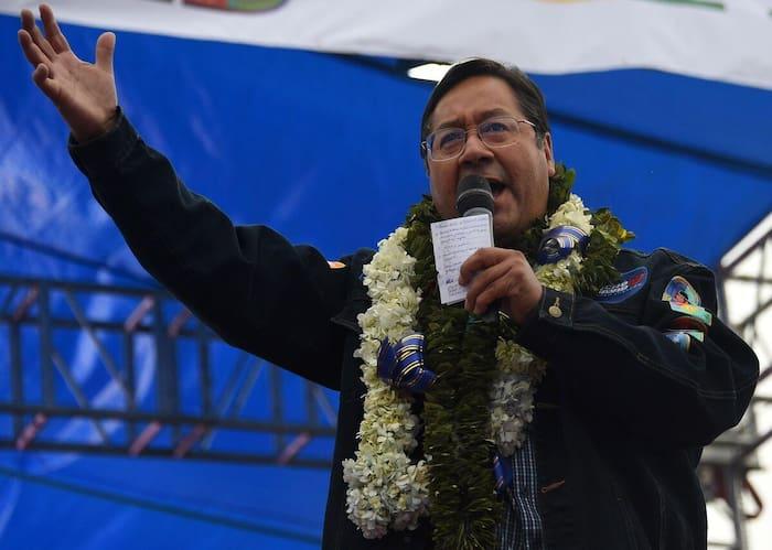 Luis Arce, le candidat du MAS (Mouvement vers le socialisme) aux élections en Bolivie
