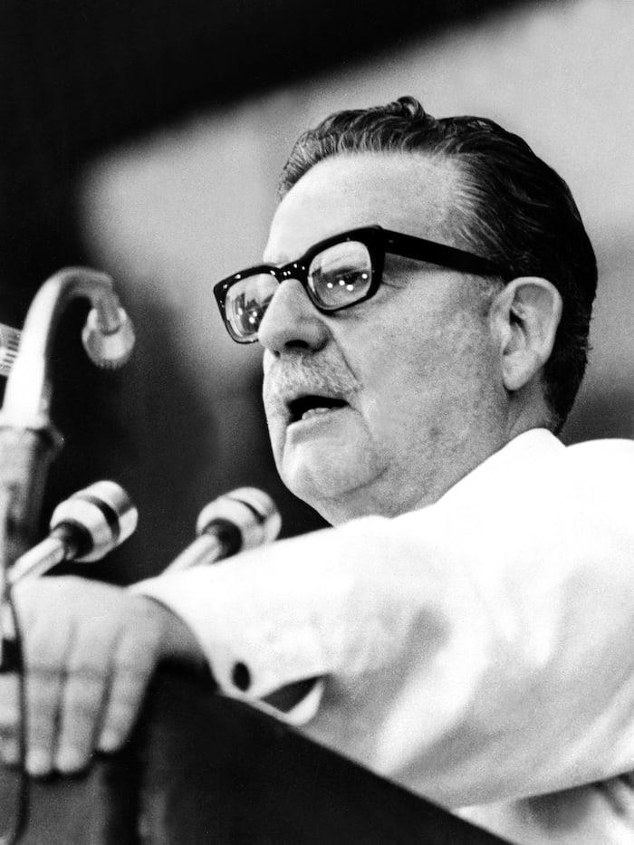 Photo d'archives prise le 1er février 1973 du président chilien Salvador Allende.