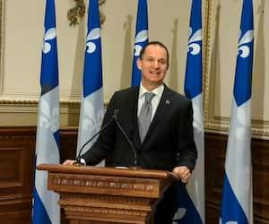 Le ministre des Finances, Eric Girard