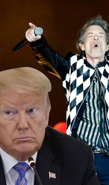 Image principale de l'article Les Rolling Stones menacent de poursuivre Trump