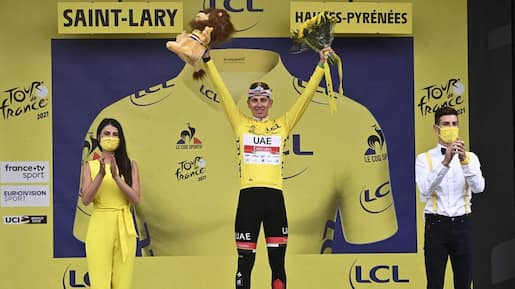 Tour de France: Pogacar, maillot jaune vainqueur au Portet