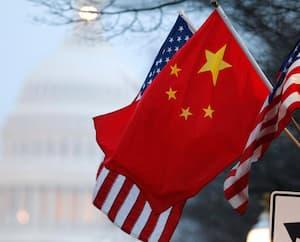 Drapeau Chine États-Unis