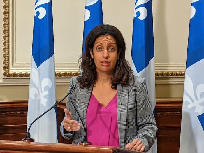 La cheffe du PLQ, Dominique Anglade