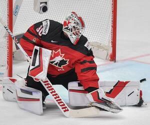 Le gardien canadien Matt Murray lors de la finale du Championnat du monde de hockey 2019