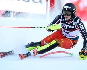 Laurence St-Germain, le 4 janvier 2020, à la Coupe du monde de slalom en Croatie.