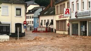 Les inondations qu'a connues l'Allemagne dans les derniers jours constituent la plus grande catastrophe naturelle de l'histoire récente du pays.