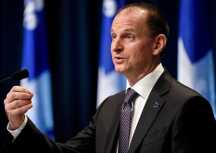 Le ministre des Finances, Eric Girard, lors de la présentation de la mise à jour économique du 12 novembre dernier.