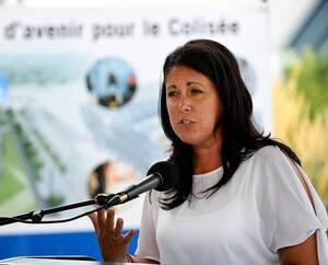 La candidate à la mairie de Québec, Marie-Josée Savard