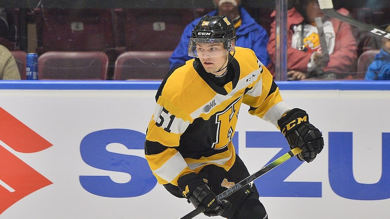 Shane Wright of the Kingston Frontenacs. Photo by Terry Wilson / OHL Images.