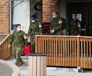 GEN-Entrevues avec des militaires en renfort à l'hôpital de St-Anne-de Bellevue