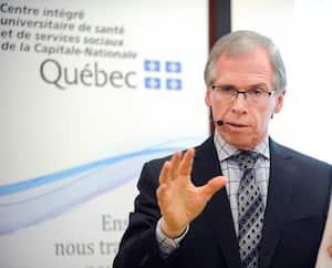 Le directeur régional de santé publique de la Capitale‐Nationale, le Dr François Desbiens