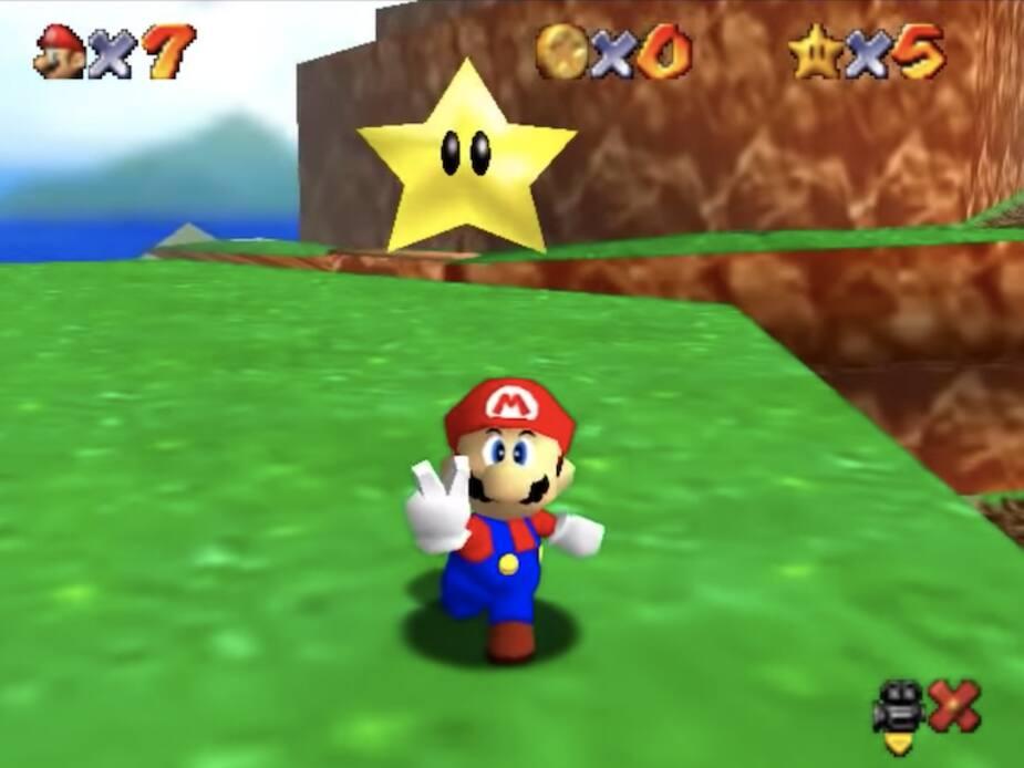 27 souvenirs du jeu Super Mario 64 | Pèse sur start