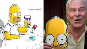 Image principale de l'article Les Simpson rendent hommage à Hubert Gagnon