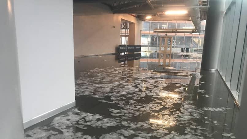 Le Rogers Place d'Edmonton est inondé