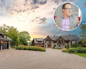 Le président de Crakmedia, Nicolas Chrétien (en mortaise), a récemment fait l'achat d'une maison de près de 6millionsde dollars à Lac-Saint-Joseph, au nord de Québec.