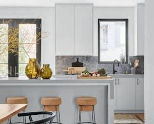Image principale de l'article Une cuisine où le marbre est en vedette