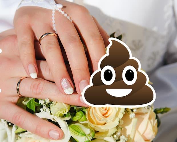 Image principale de l'article Une mariée ruine sa robe avec un pet